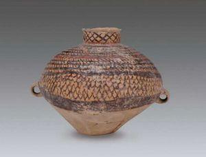 偏颈鸭形彩陶壶